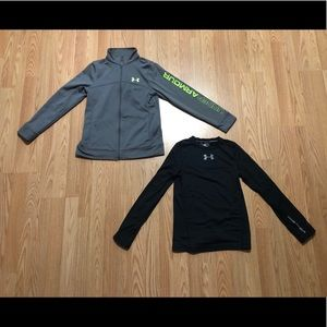 Boys Under Armour tops size YMD
